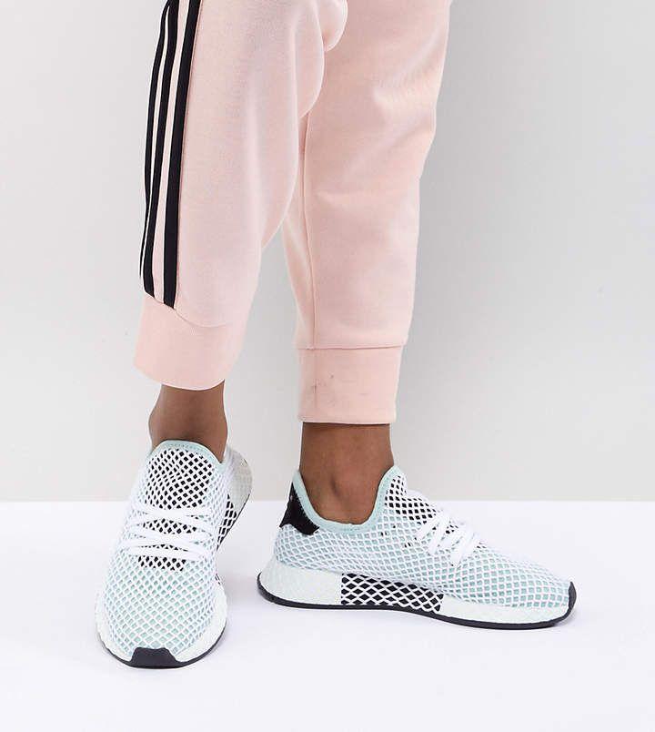2a46018f5 adidas Originals Deerupt Runner Sneakers In Green