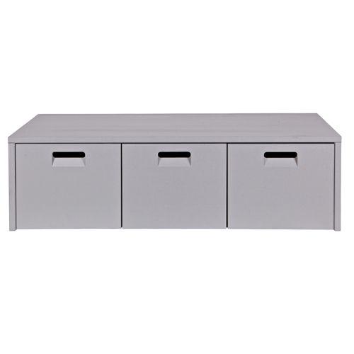 Banc en pin gris / Coffre de rangement 3 tiroirs Arthur   Coffre ...