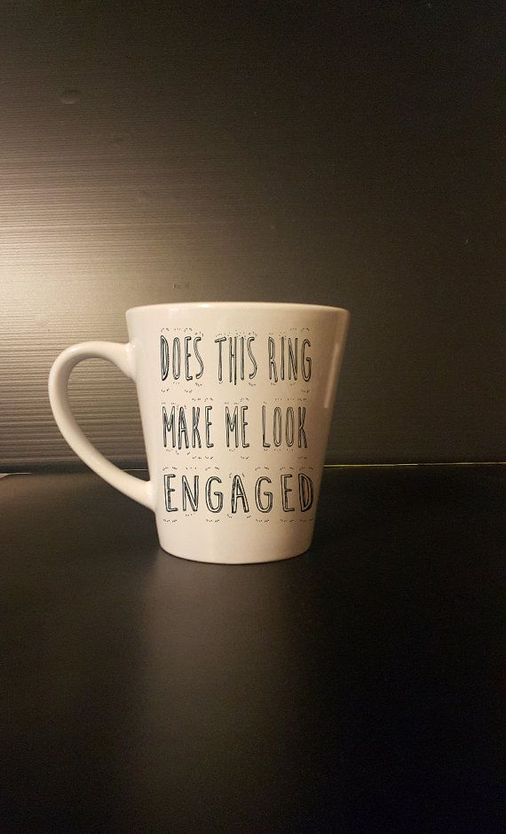 Does This Ring Make Me Look Engaged Coffee Mug  by BlackCatPrints