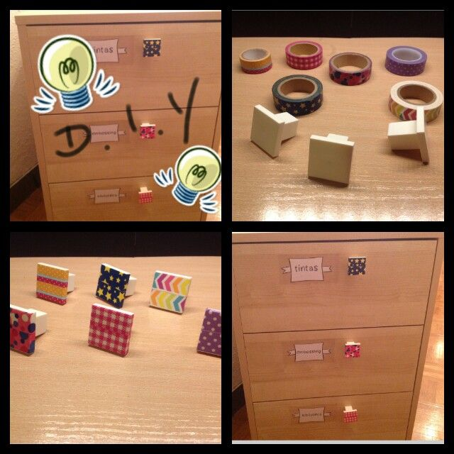 Decorar tiradores de cajones con washitape diy idees bricolatge pinterest washi tape and - Tiradores de cajones ...