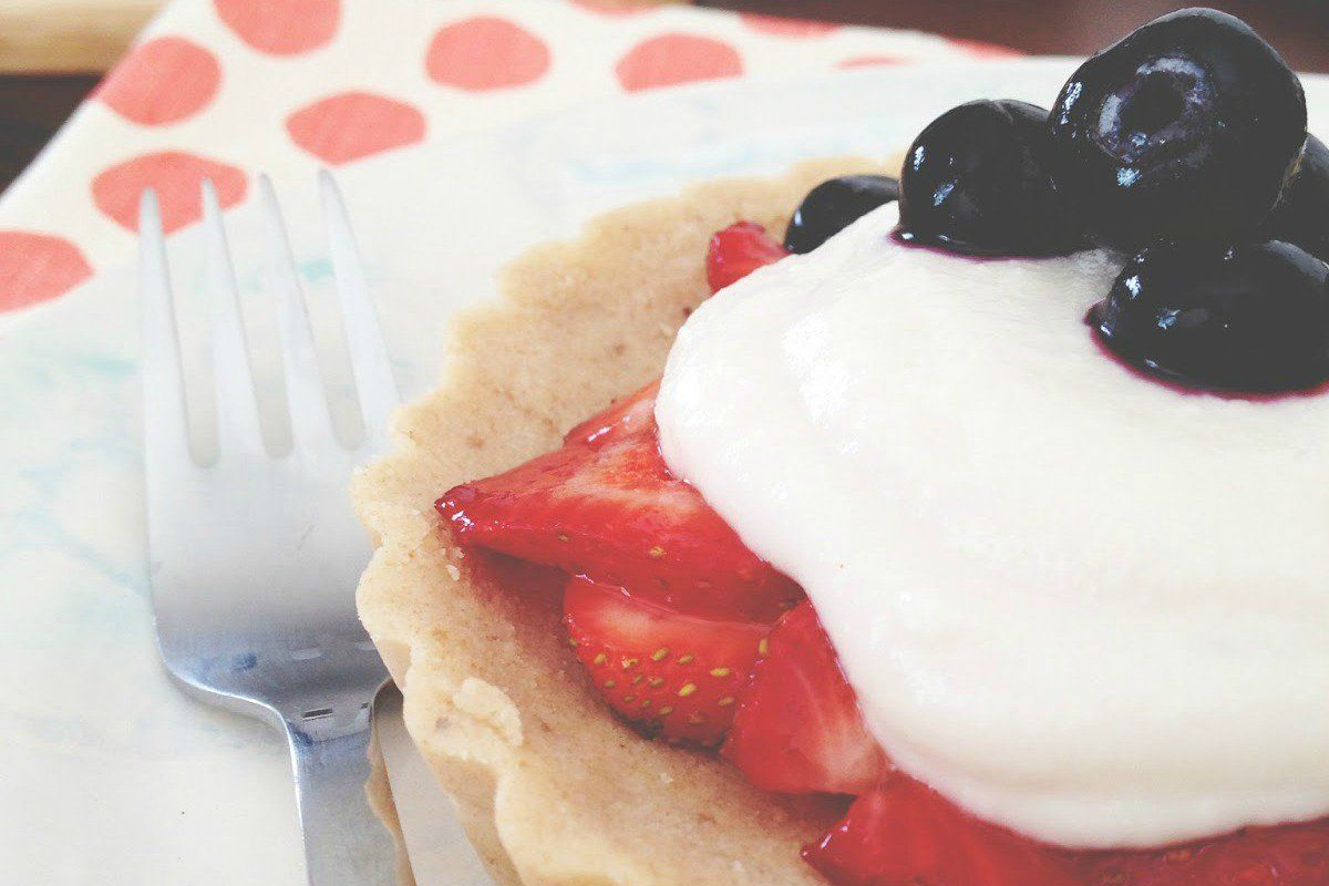 raw strawberry angel food tart vegan glutenfree  food