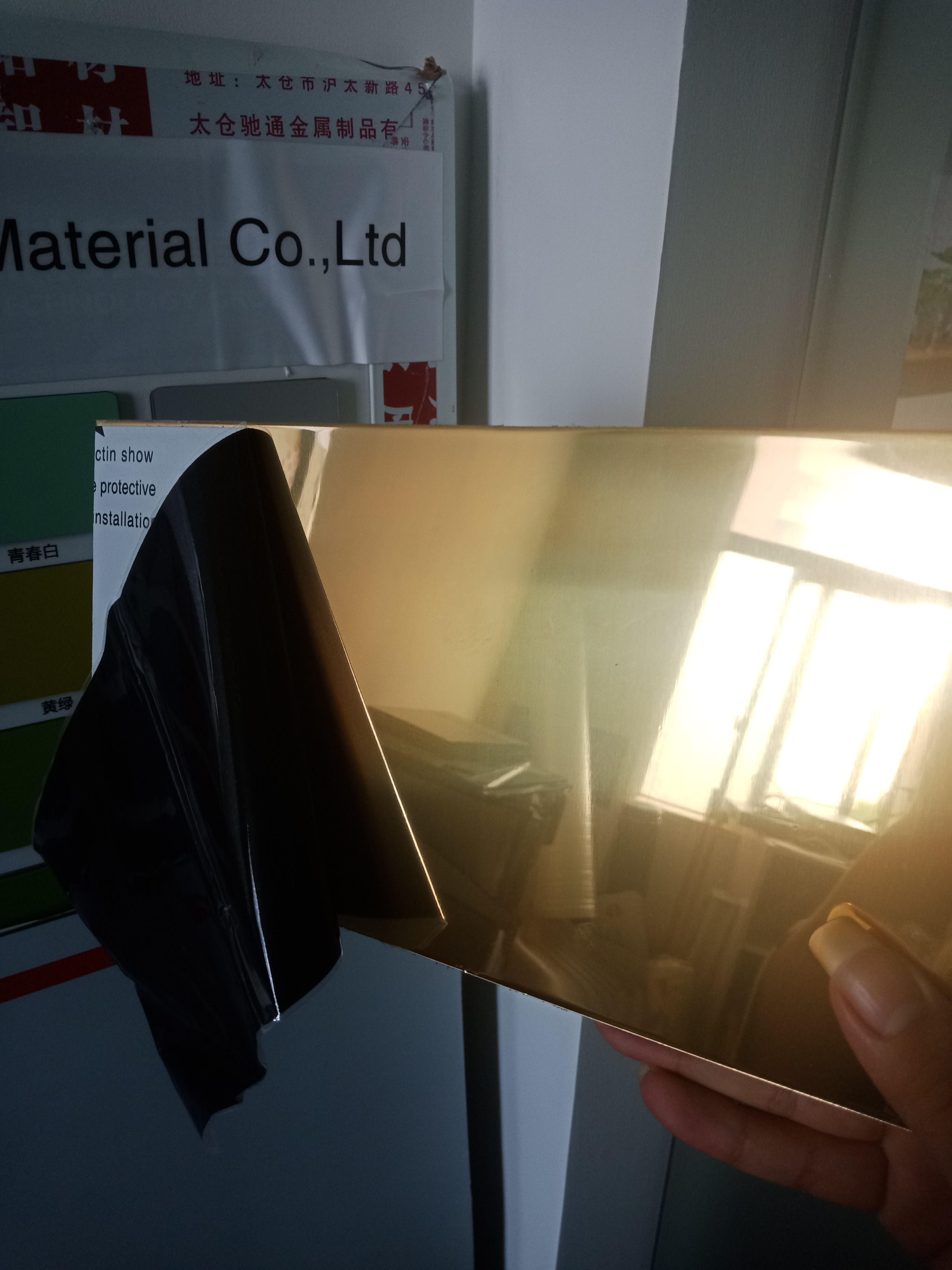 Golden Mirror aluminium composite panel ACP - Buy Golden