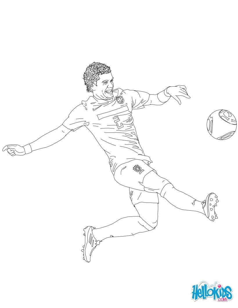 soccer players coloring pages  dani alves  coloring