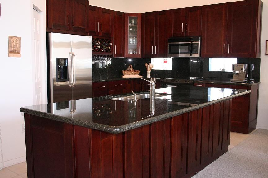 17 best ideas about Cherry Wood Cabinets on Pinterest | Cherry cabinets, Cherry  kitchen cabinets and Blue gray kitchens