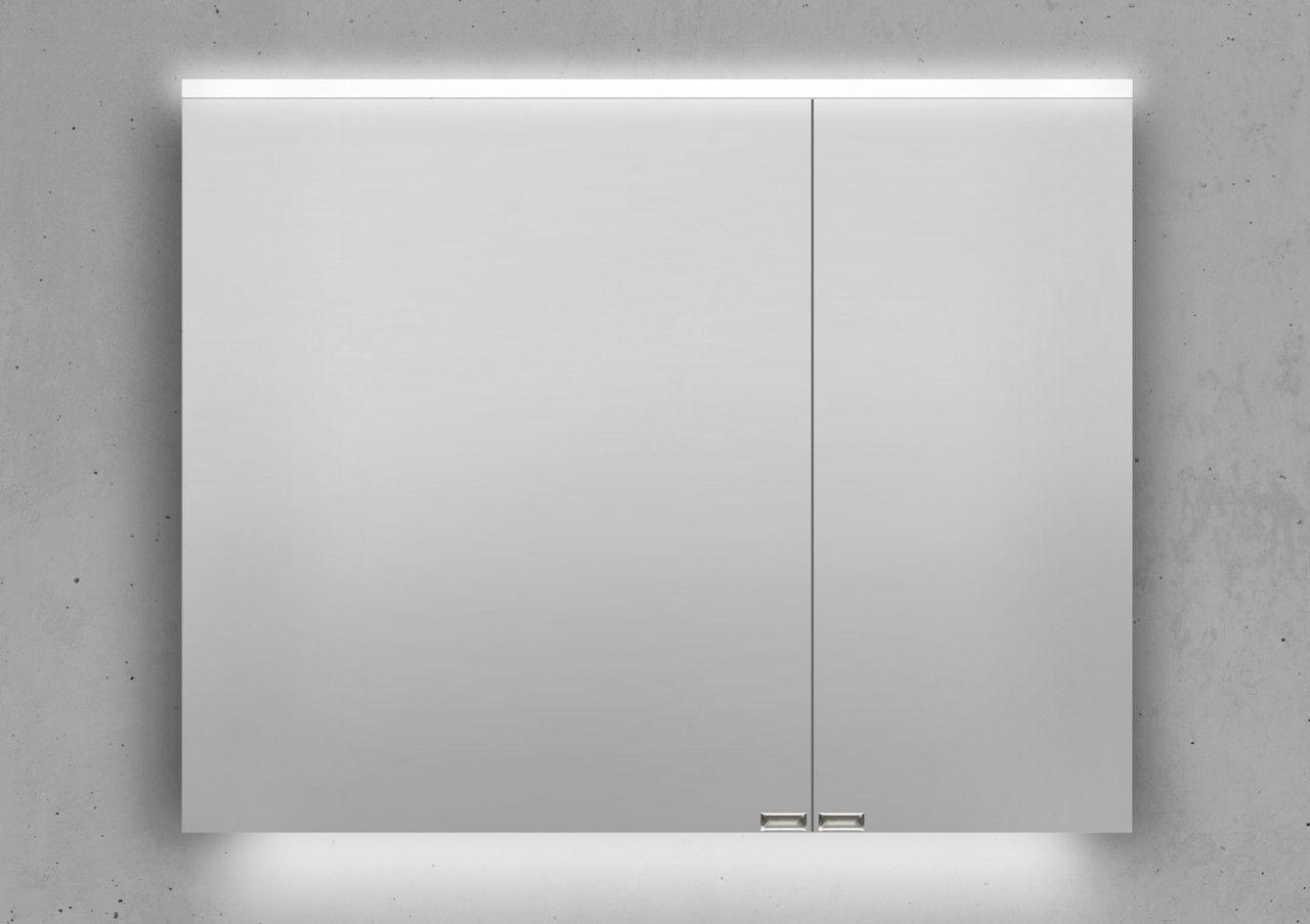 Design Spiegelschrank 90 cm integrierte LED Beleuchtung