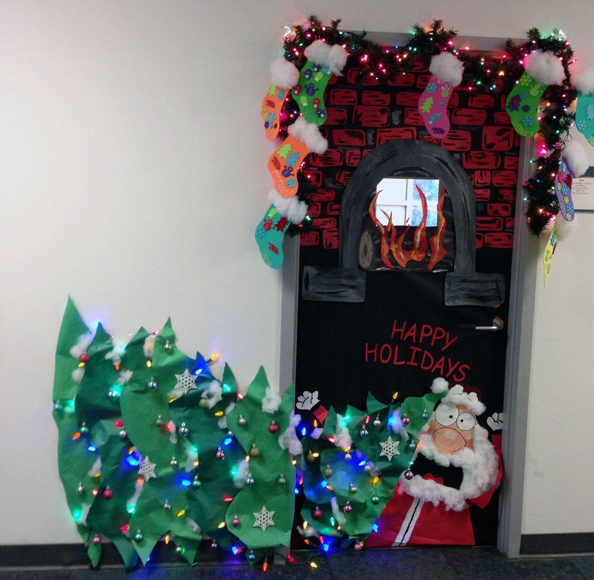 Christmas Door Decorating Contest Winners Tags Door