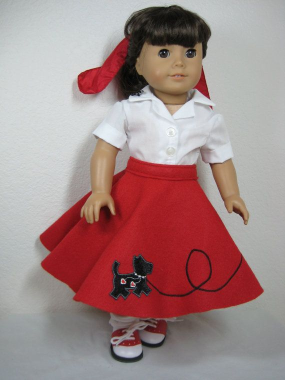 18 inch Doll Clothes American Girl Scottie Dog 50s Outfit | Dolls ...