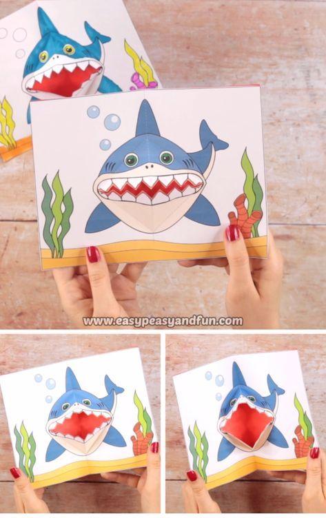 Shark Pop Up Card