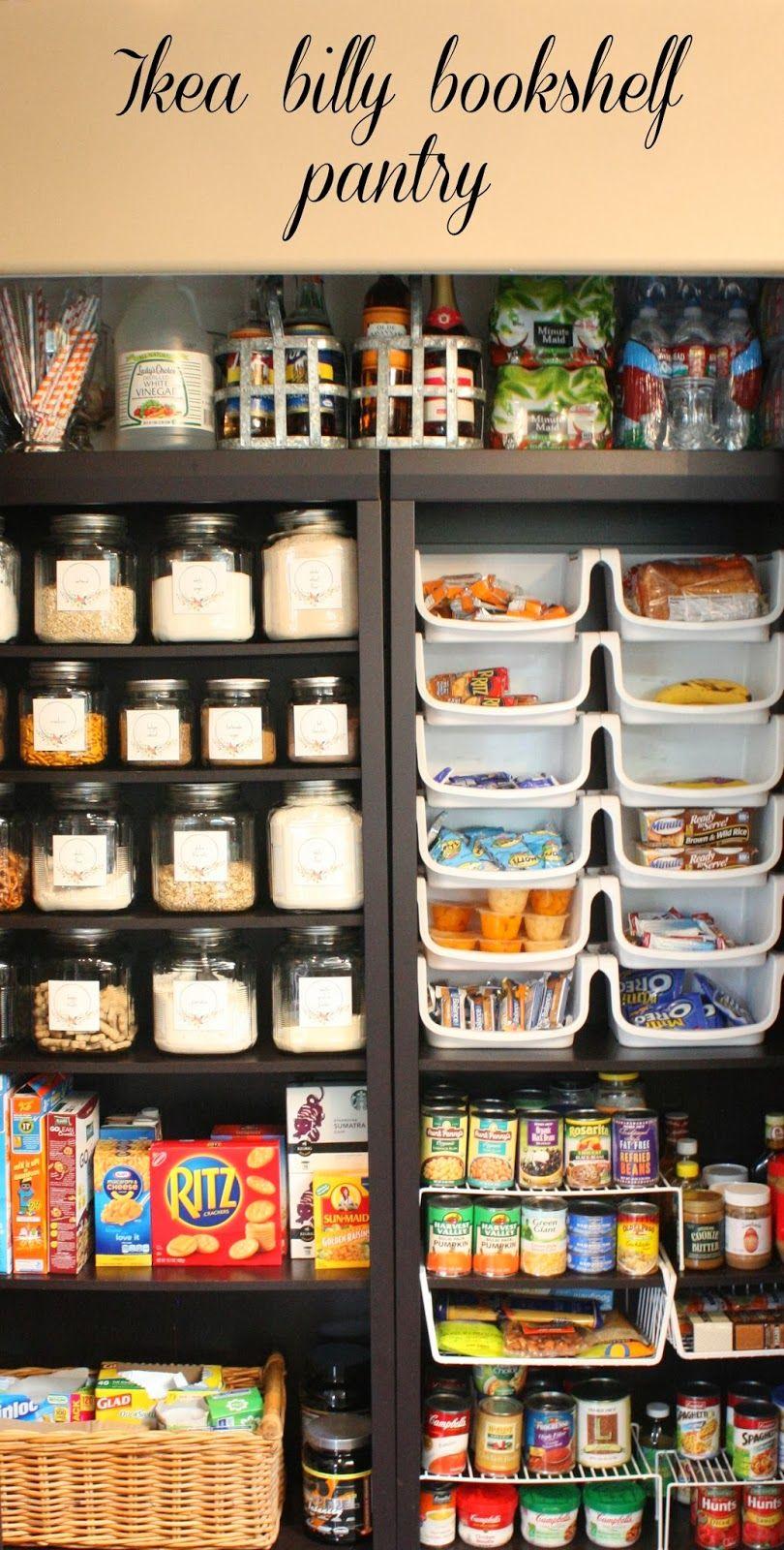 pantry made with ikea bookshelves rangement cellier et garde manger. Black Bedroom Furniture Sets. Home Design Ideas