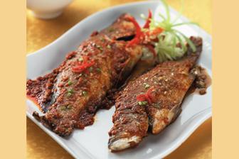 Kakap Panggang Dua Rasa Makan Siang Panggang Makanan Ikan