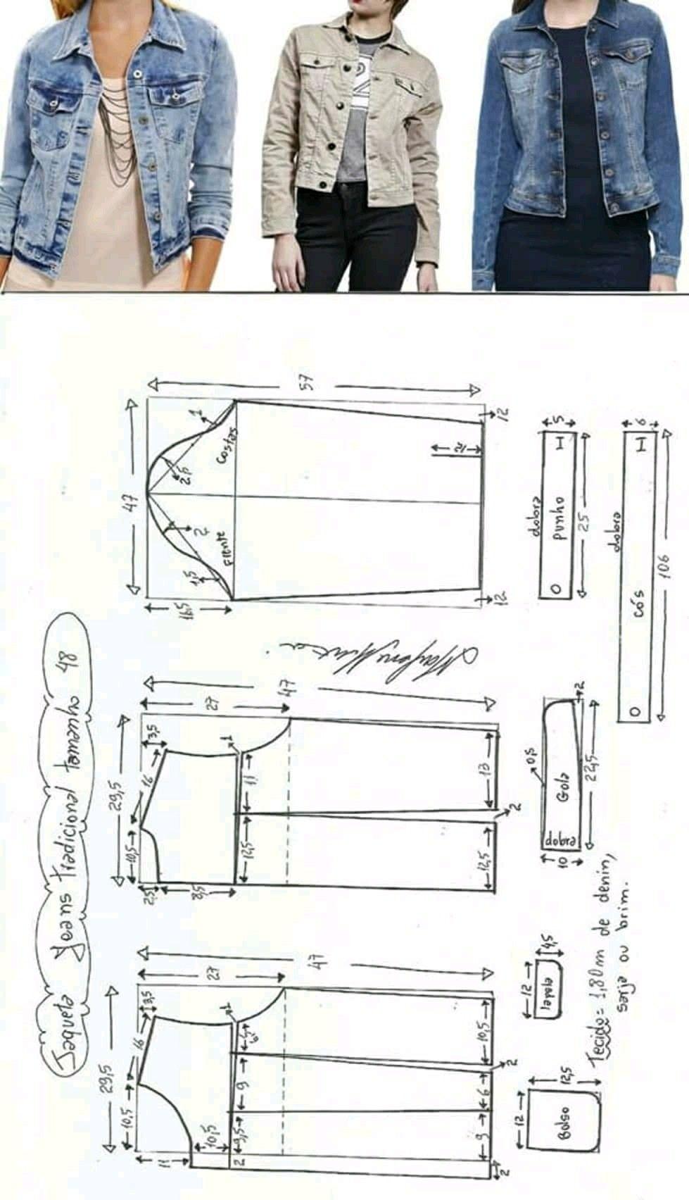 Jacket pattern | crafty | Pinterest | Chaquetas, Patronaje y Patrones