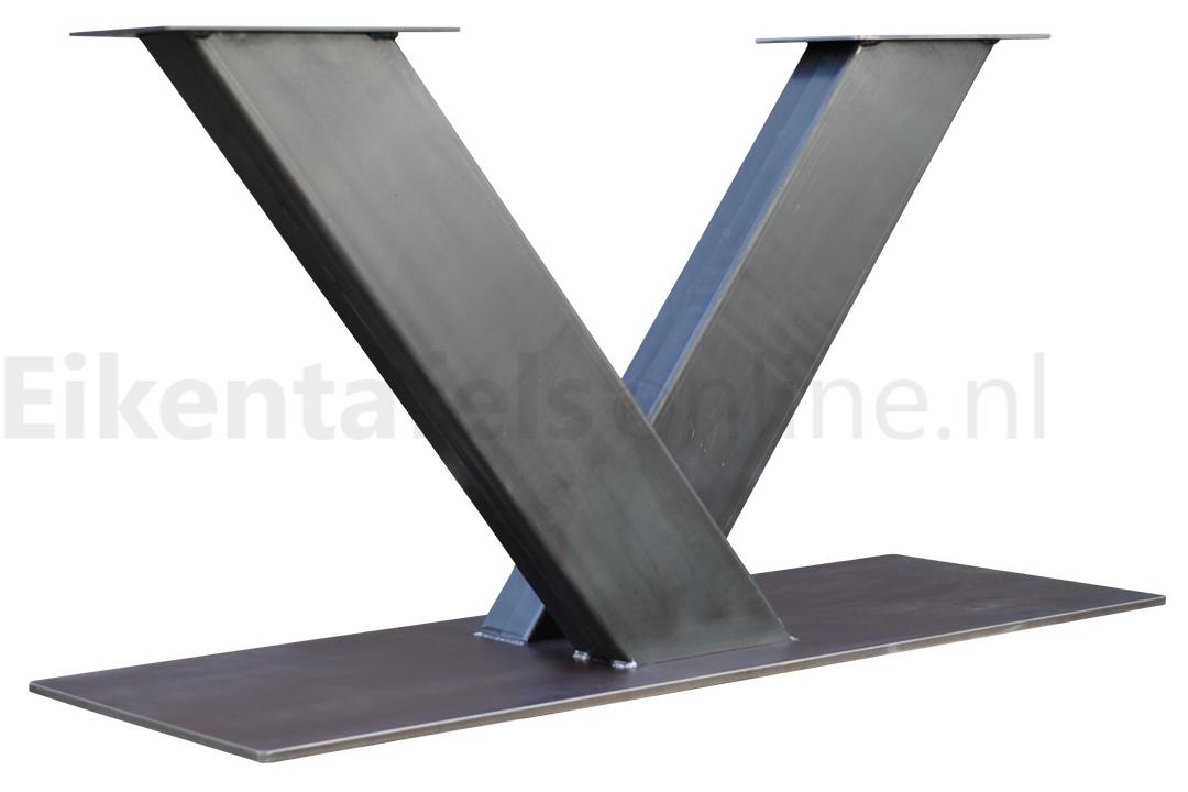 Tafel Onderstel Metaal : Tafelonderstel metaal v poot eikentafelsonline.nl tafelpoten