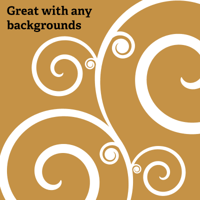 great with backgrounds in Photoshop and elements swirls and