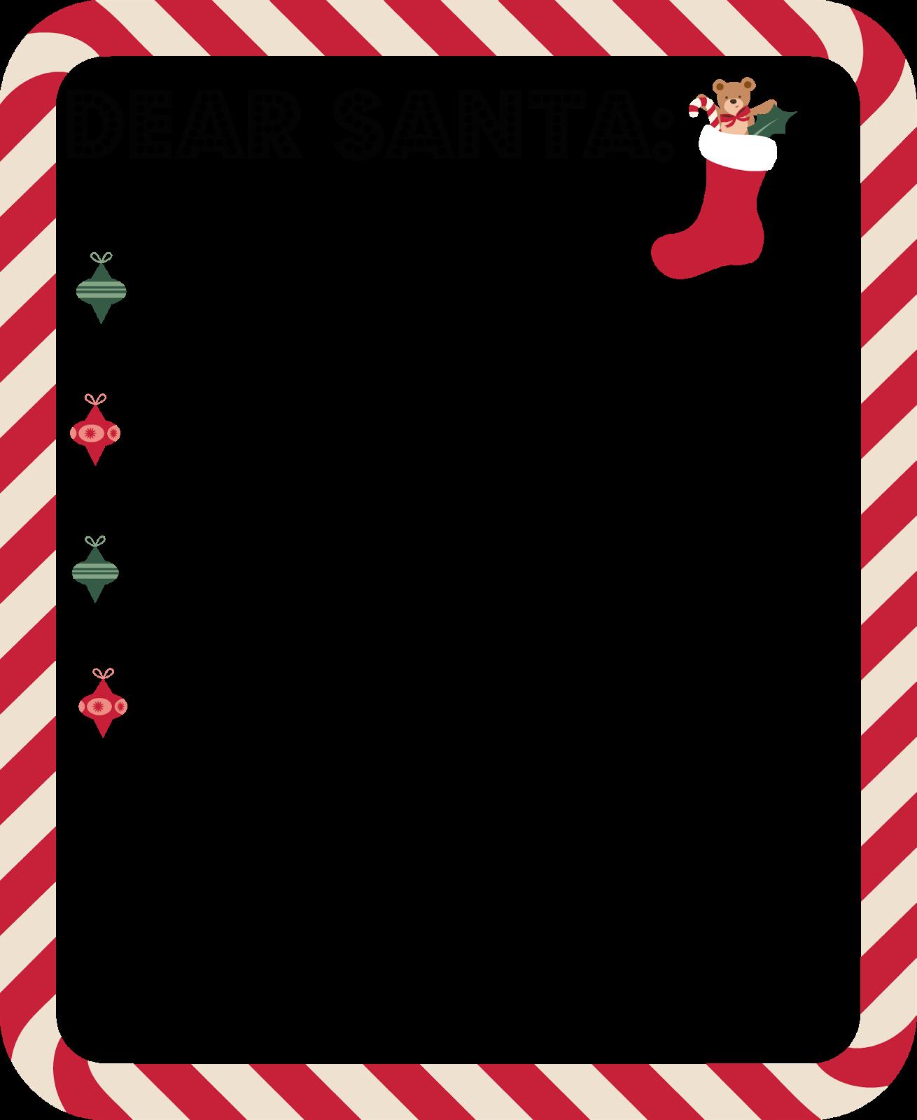 FREE Dear SANTA Letter {Printable Santa letter, Santa