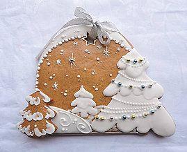 Dekorácie - Medovníkový Vianočný obrázok - 7264748_