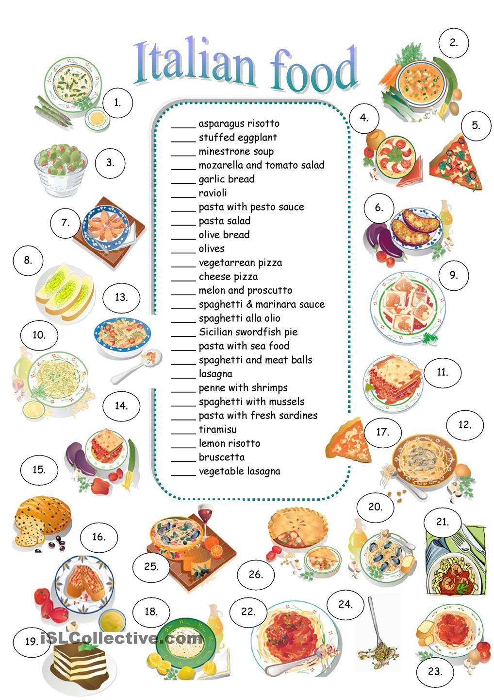 Free Worksheet Italian Worksheets 17 best images about food and drinks at a restaurant on pinterest vegetables nursery worksheets i spy games