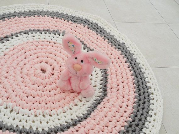 Crochet Rug Round Nursery Bath Mat By Sweetncozy 120 00