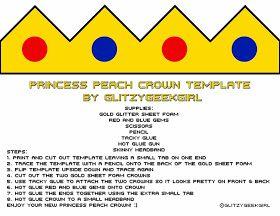 glitzy geek girl tutorial princess peach crown birthday decor