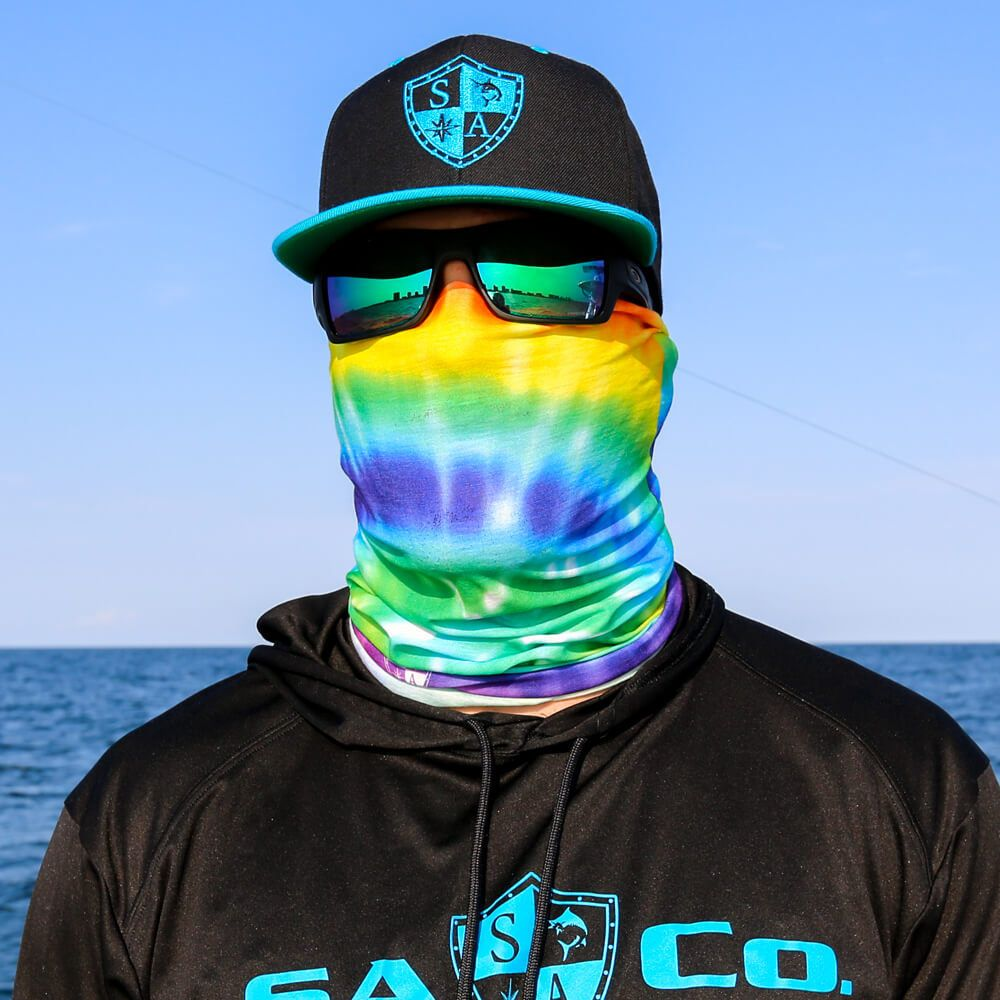 Salt Armour SA Purple /& Yellow Gold Digi Face Shield Mask Balaclava Neck Gaiter