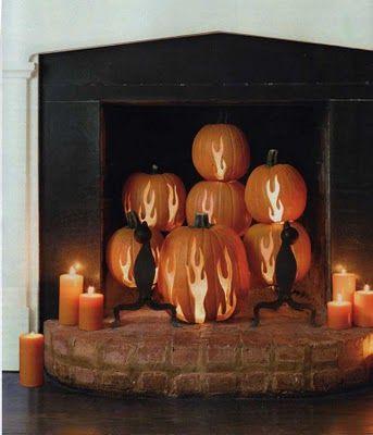 flames Halloween ideas Pinterest Country living magazine - halloween decorations on pinterest