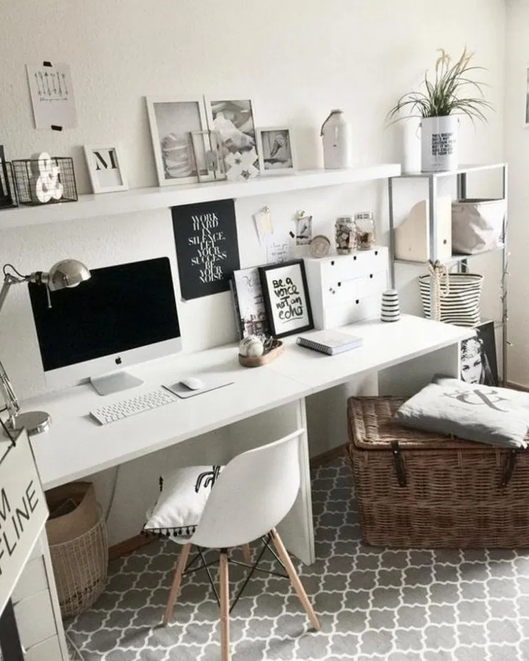 Cozy Homeoffice Decor: 38 Wonderful Diy Desk Ideas For Best Home Decoration 14 In
