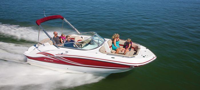 2013 Hurricane Sundeck 2200 Dc I O Deck Boat With Images Deck Boat Boat Hurricane Boats