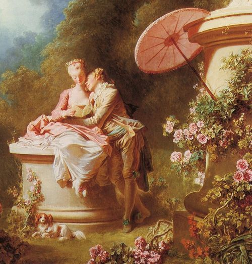 love letters (detail), jean-honoré fragonard. my favorite rococo