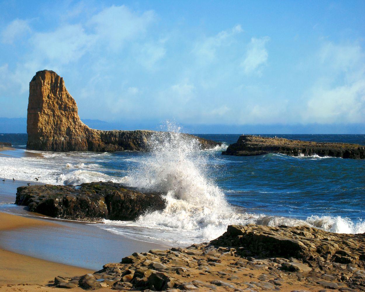 Natural Bridges State Beach Santa Cruz California Sea Pinterest And Bridge