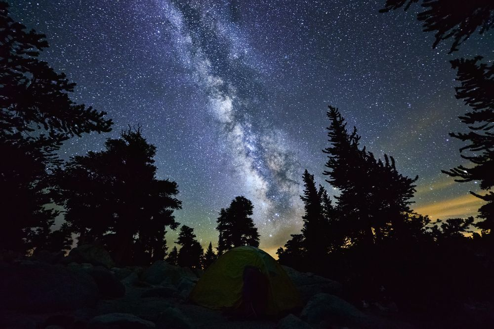 Milky Way Over Campers  Photo by John Morris -- National Geographic Your Shot