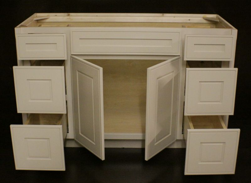 Maple Bathroom Vanity Cabinets kraftmaid mushroom maple bathroom vanity sink base cabinet 54