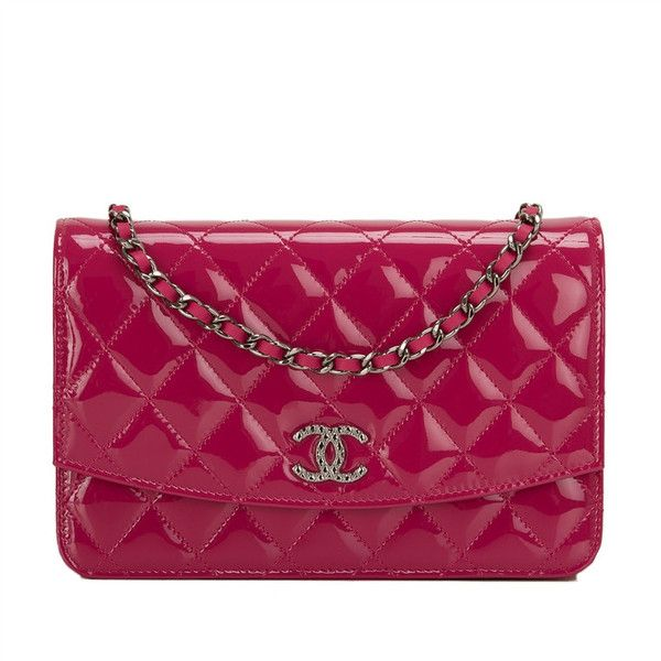 65f62933776d Chanel dark pink quilted Wallet On Chain (WOC) of patent leather with  ruthenium hardware in pristine condition. Shop authentic Chanel at Madison  Avenue ...