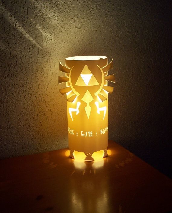 ZELDA TRIFORCE LAMP Hyrule Crest Inspired Video Game By GlowingArt