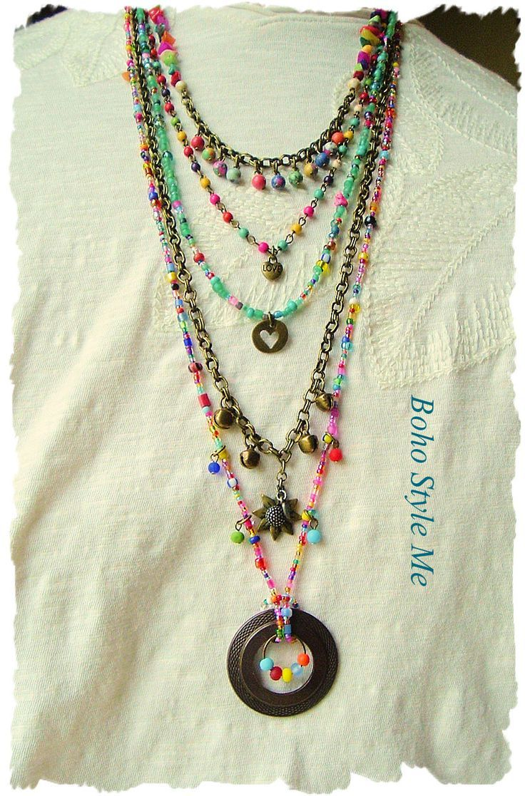 bohochic shop beads boho jewelry you chic necklaces livemaster buy item gift artisan crochet for necklace handmade