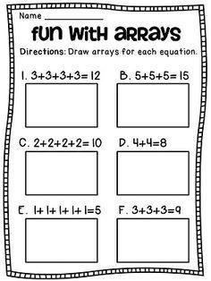 Arrays Arrays Arrays   Addition worksheets, Worksheets and Math