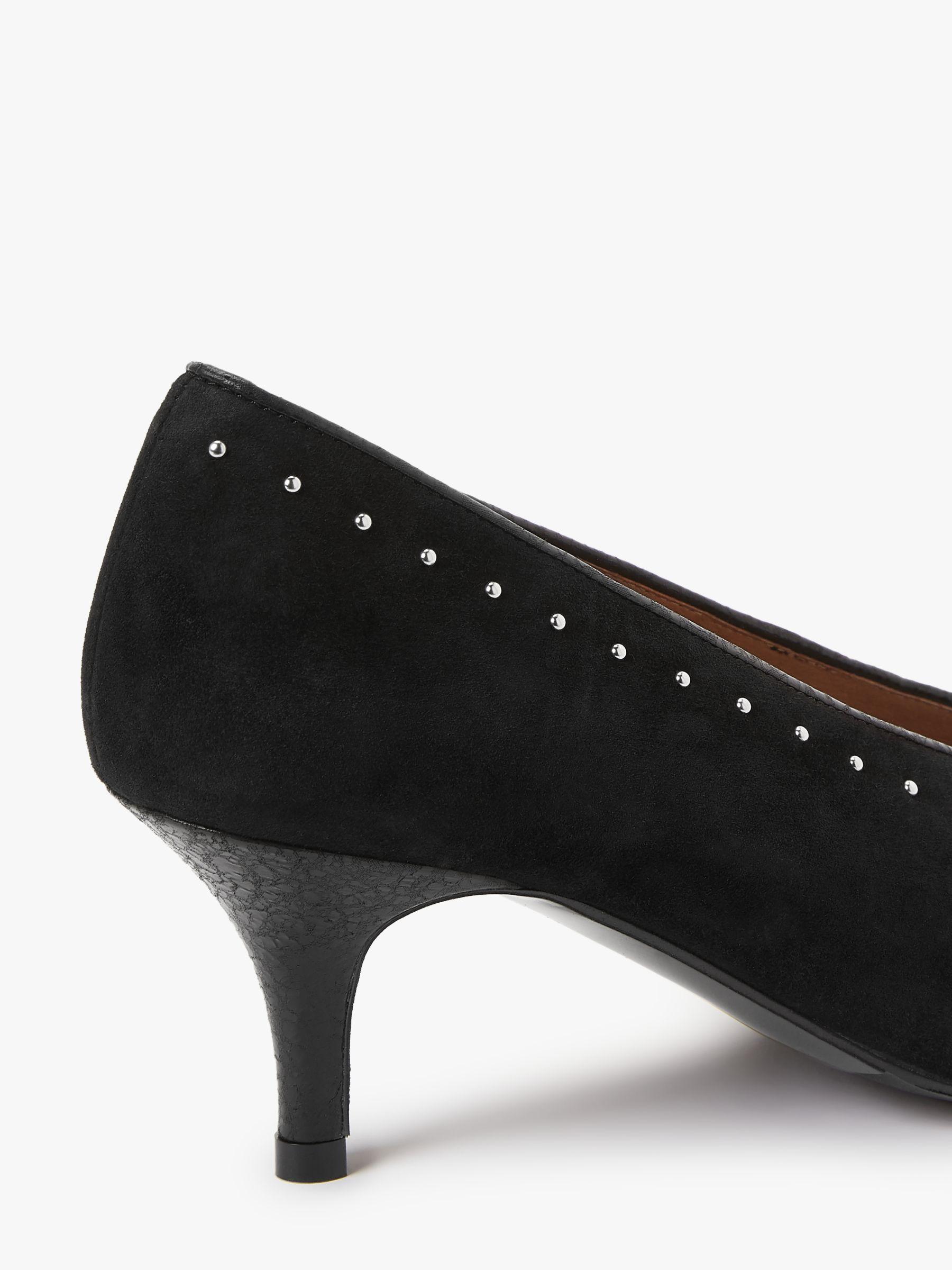 And Or Avolene Stud Kitten Heel Court Shoes Black Kitten Heels Heels Court Shoes