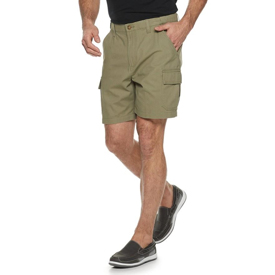 c15b3c120f Men's Croft & Barrow® Classic-Fit Flex-Tab 7.5-inch Twill Cargo Shorts,  Size: 29, Med Green