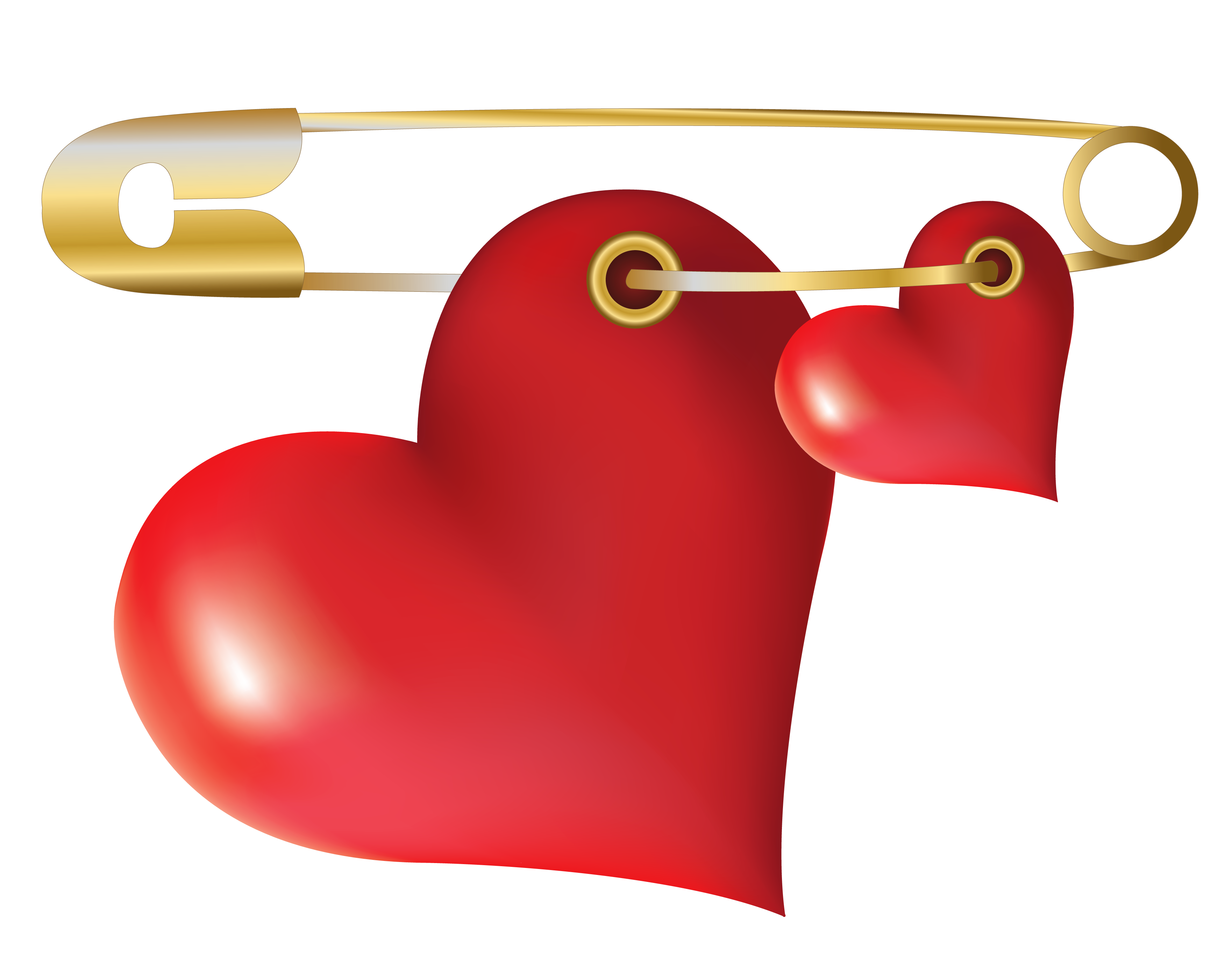 Hearts With Safety Pin Png Clipart Gallery Yopriceville High Quality Images And Transparent Png Free Clipart Love Heart Images Heart Tattoo Clip Art