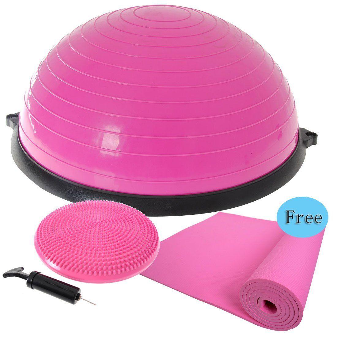 PERFORMANZ® Balance Ball Trainer for Multiple Uses Yoga/strength Training + balance disc + Free Yoga Mat (pink) $53.99 http://www.amazon.com/gp/product/B00ODP57BU/ref=as_li_qf_sp_asin_il_tl?ie=UTF8&camp=1789&creative=9325&creativeASIN=B00ODP57BU&linkCode=as2&tag=changnatio-20&linkId=Y4PRYZQ46CJQ2LUB