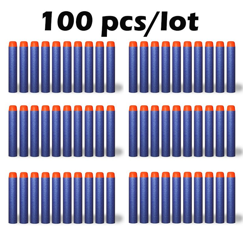 100 stks/set Nerf Kogel N-strike Elite Rampage Retaliator Series Blasters Refill Clip Darts speelgoed guns Zachte Kogel