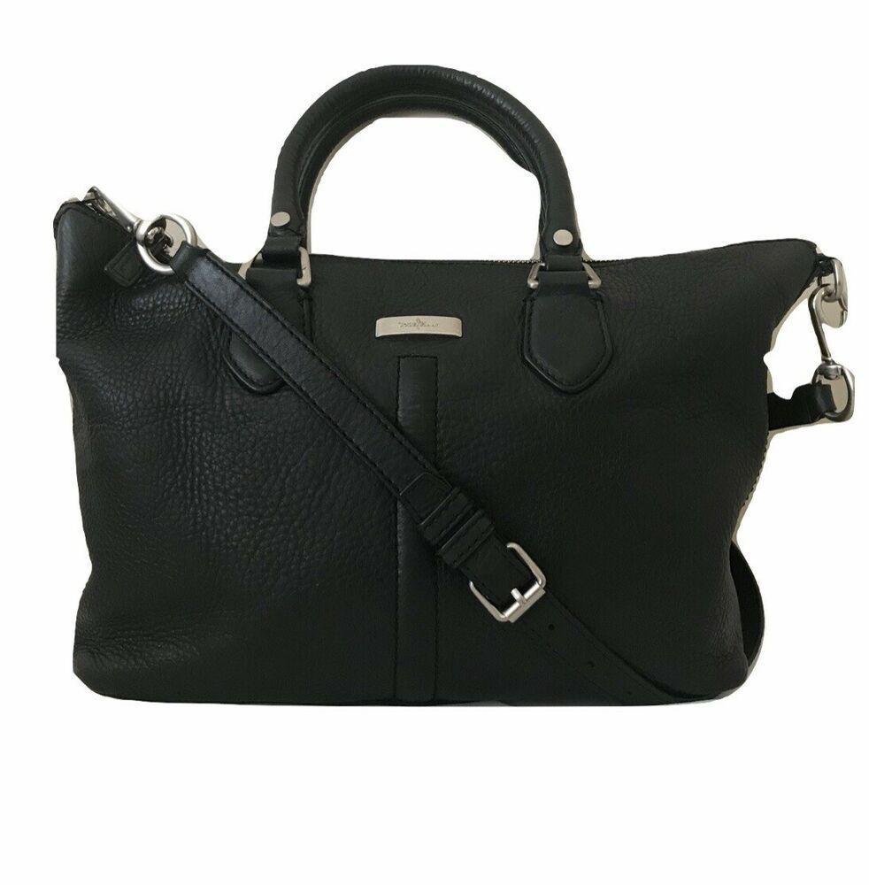 ac98a85e0f Cole Haan Bag Black Pebbled Leather Shoulder Satchel Crossbody Handbag  Purse #ColeHaan #Crossbody