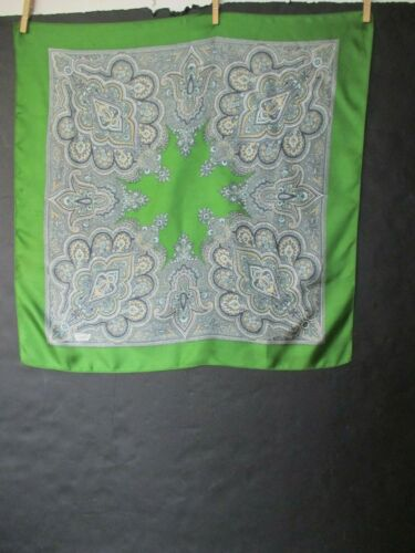 Liberty Of London Green Golden White 100 Silk Scarf W Paisley Print Made In Uk Ebay In 2020 Paisley Print Liberty Of London Print Making