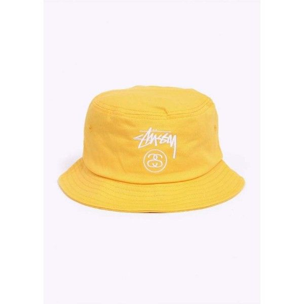 ec28ad00 Stussy Stock Lock Bucket Hat Yellow (748520 PYG) ❤ liked on Polyvore  featuring accessories, hats, bucket hats, yellow hat, stussy hat, yellow bucket  hat ...