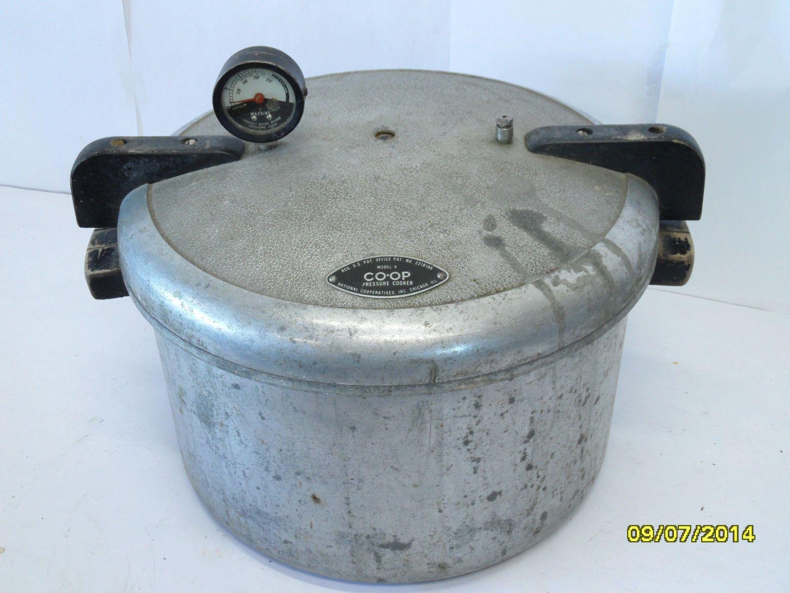 VINTAGE 1940 CO-OP Pressure Cooker Canning Pot National Pressure ...