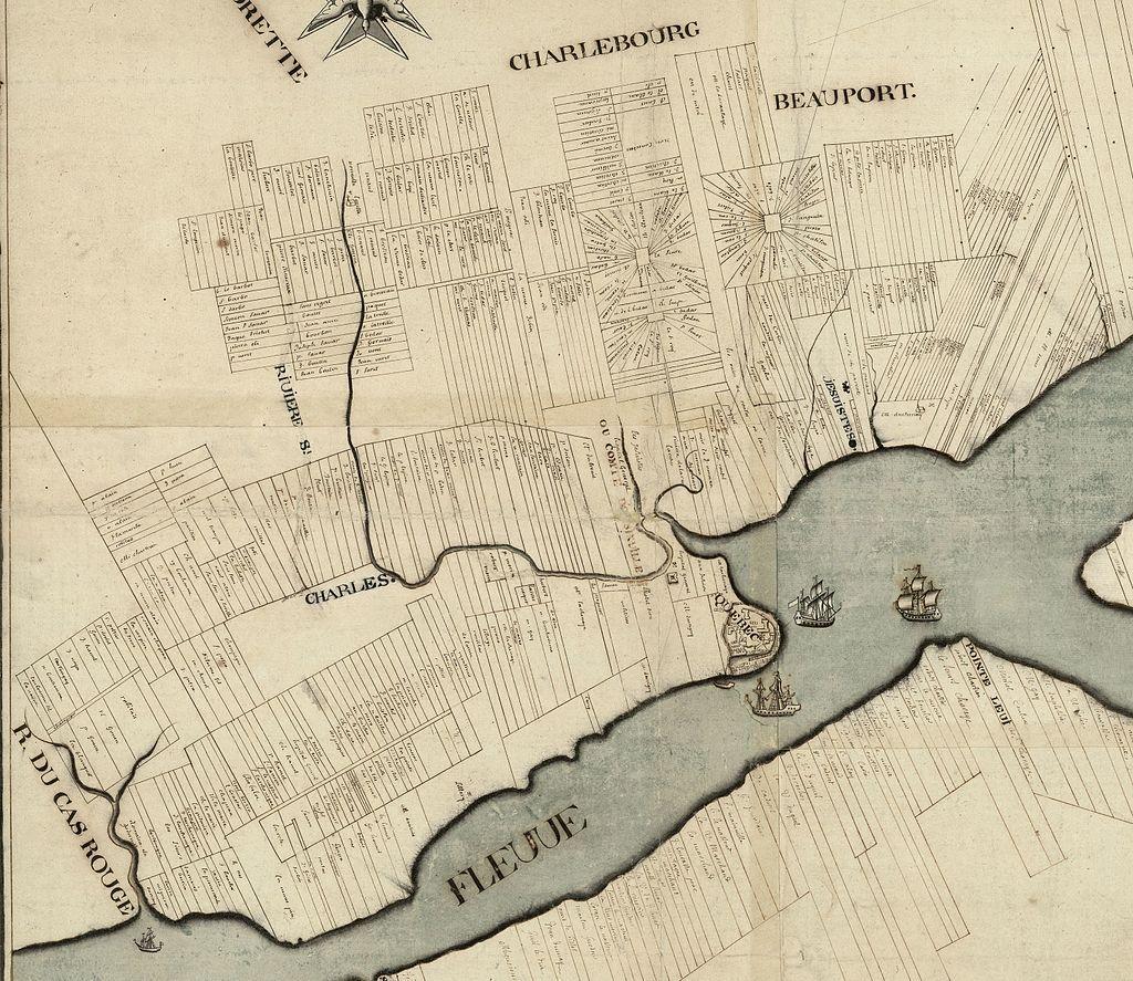 Carte du gouvernement de Québec levée en l'année 1709