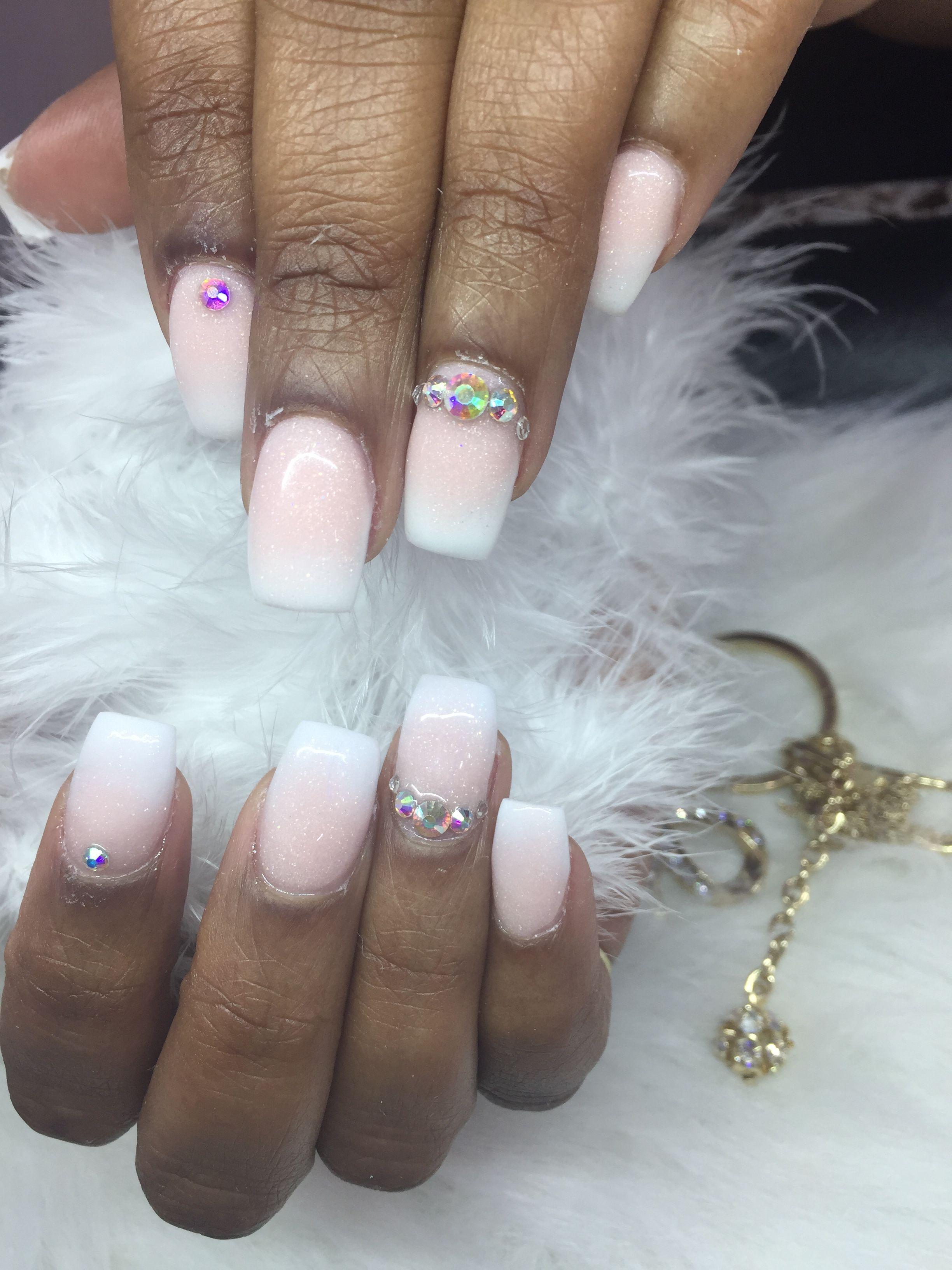 Fairy Dust Acrylic Ombré Nails | Nails | Pinterest