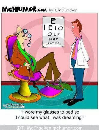 Dreaming With Glasses Optometry Humor Eye Jokes Work Humor