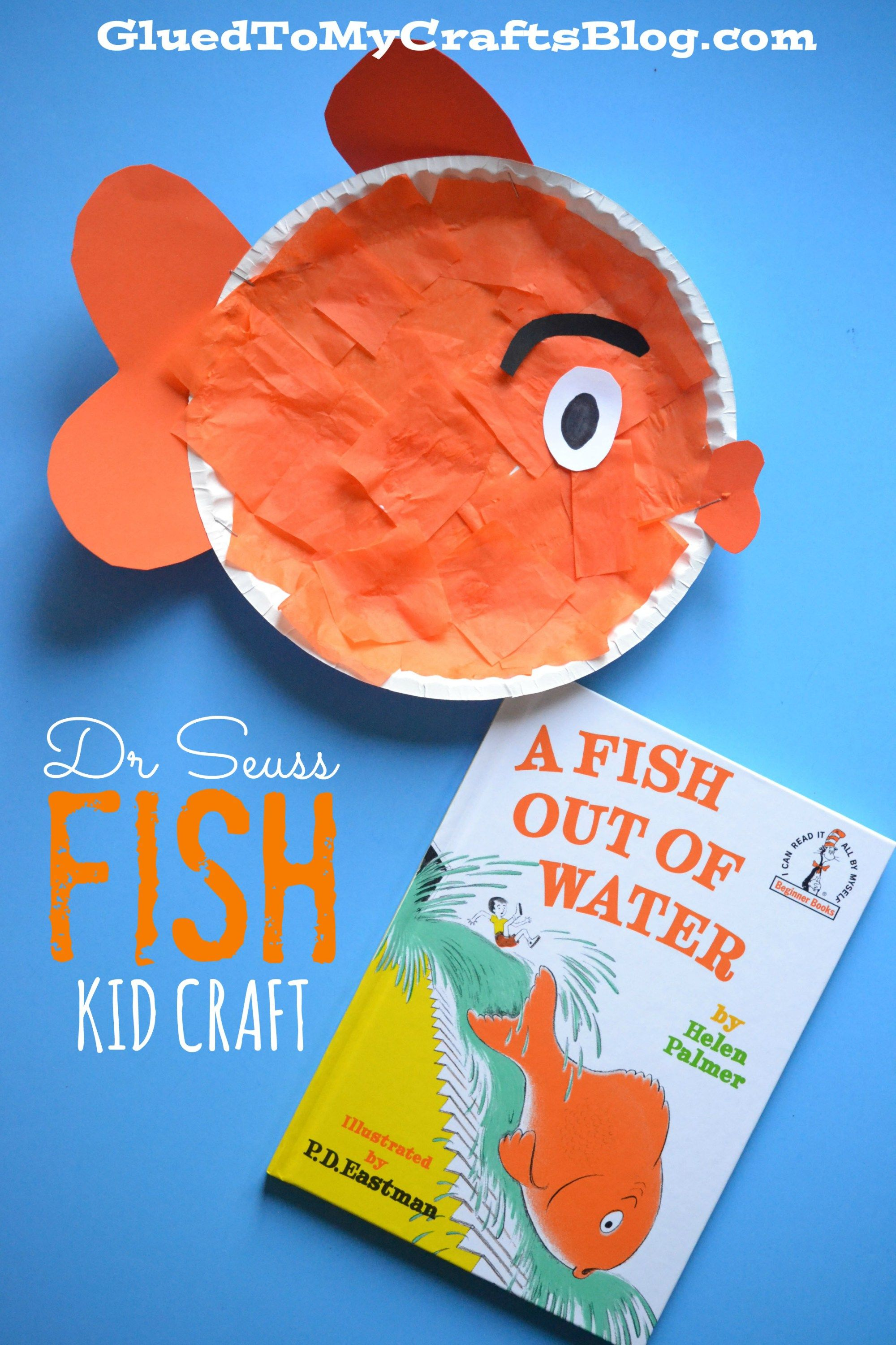 Dr Seuss Beginner Book Inspired Fish {Kid Craft} | Actividades para ...
