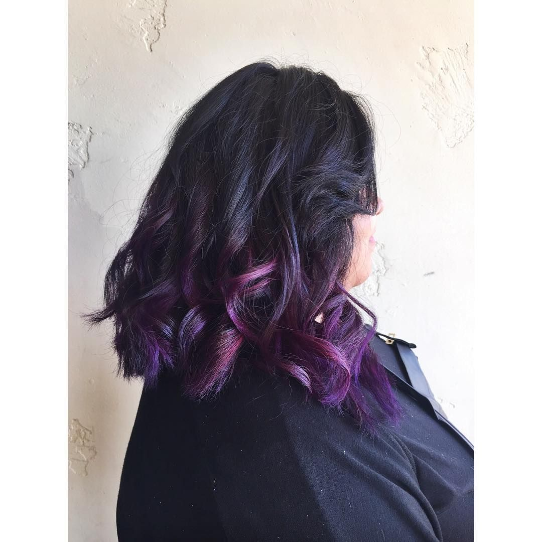 Cool  Trendy Black and Purple Hair Ideas that You Should Give a