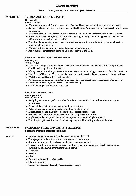 Aws Cloud Engineer Resume Beautiful Aws Cloud Engineer Resume Samples Basic Resume Job Resume Examples Job Resume Template