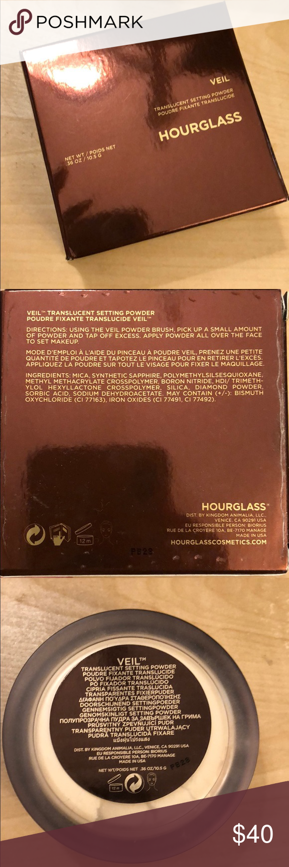Hourglass Veil Translucent Setting Powder Bnib The Design On This Is Very Unique The Top Has A Stopper So U C Hourglass Makeup Setting Powder Finishing Powder